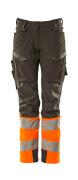 19178-511-01014 Pantalones con bolsillos para rodilleras - azul marino oscuro/naranja de alta vis.
