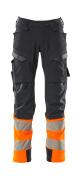 19179-511-01014 Pantalones con bolsillos para rodilleras - azul marino oscuro/naranja de alta vis.