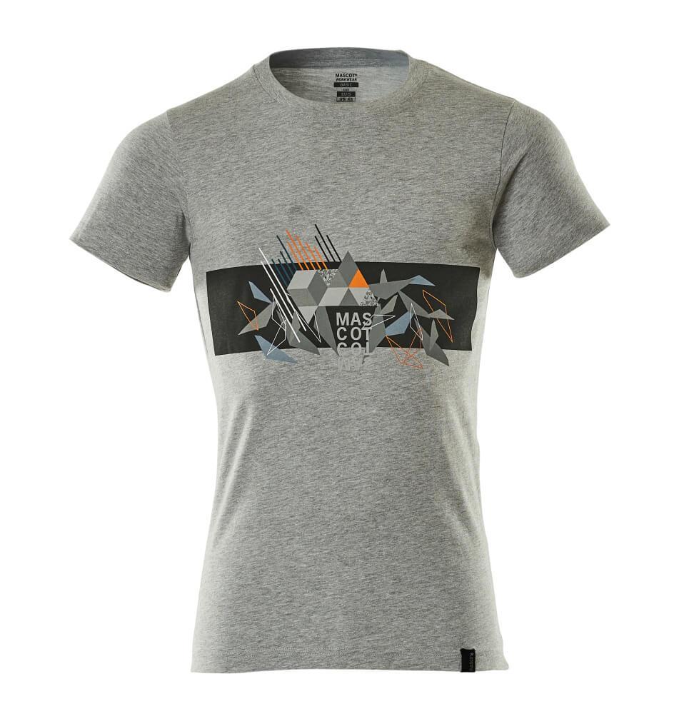 19182-965-0814 Camiseta - gris-moteado/naranja de alta vis.