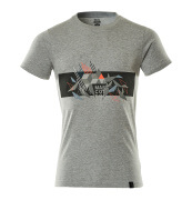 19182-965-08222 Camiseta - gris-moteado/rojo de alta vis.