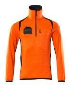 19303-316-14010 Jersey polar con media cremallera - naranja de alta vis./azul marino oscuro