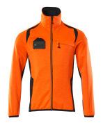 19403-316-14010 Jersey polar con cremallera - naranja de alta vis./azul marino oscuro