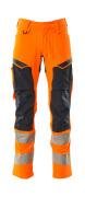 19479-711-14010 Pantalones con bolsillos para rodilleras - naranja de alta vis./azul marino oscuro