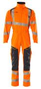19519-236-14010 Mono con bolsillos para rodilleras - naranja de alta vis./azul marino oscuro