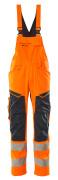 19569-236-14010 Peto con bolsillos para rodilleras - naranja de alta vis./azul marino oscuro