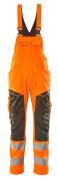 19569-236-1418 Peto con bolsillos para rodilleras - naranja de alta vis./antracita oscuro