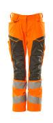 19578-236-1418 Pantalones con bolsillos para rodilleras - naranja de alta vis./antracita oscuro