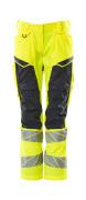 19578-236-17010 Pantalones con bolsillos para rodilleras - amarillo de alta vis./azul marino oscuro