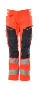 19578-236-22210 Pantalones con bolsillos para rodilleras - rojo de alta vis./azul marino oscuro