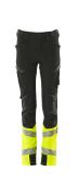 19979-311-0917 Pantalones para niños - negro/amarillo de alta vis.