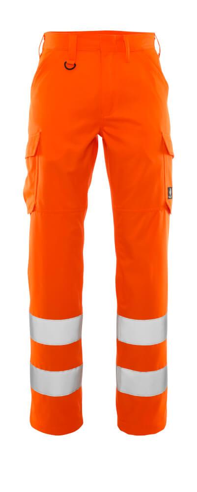 20859-236-14 Pantalones con bolsillos de muslo - naranja de alta vis.