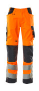 20879-236-14010 Pantalones con bolsillos para rodilleras - naranja de alta vis./azul marino oscuro