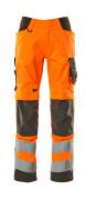 20879-236-1418 Pantalones con bolsillos para rodilleras - naranja de alta vis./antracita oscuro