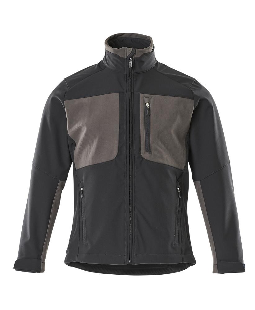 50057-824-0918 Chaqueta Softshell - negro/antracita oscuro