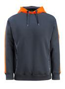 50124-932-01014 Sudadera con capucha - azul marino oscuro/naranja de alta vis.