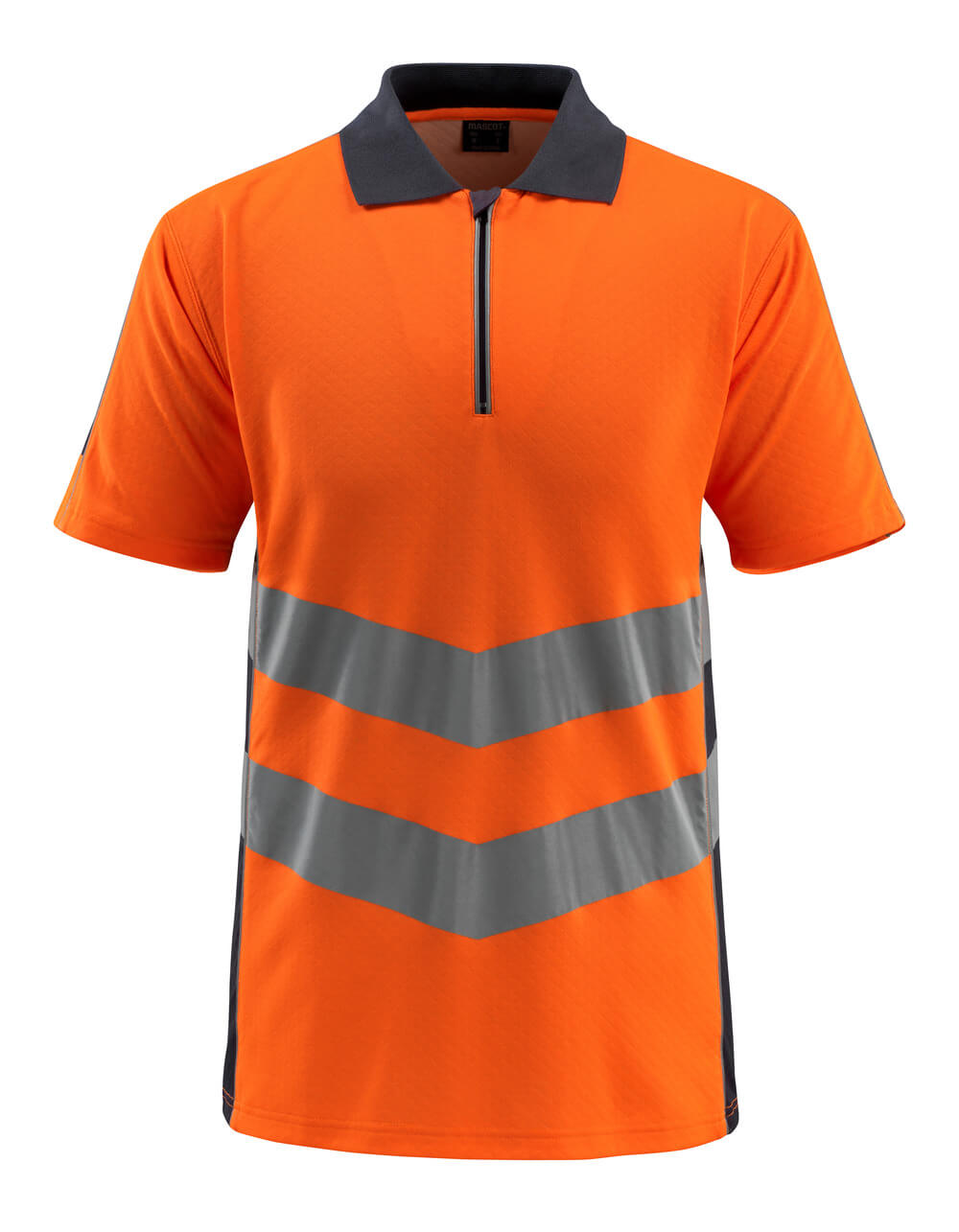 50130-933-14010 Polo - naranja de alta vis./azul marino oscuro