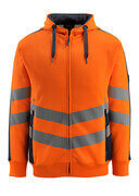 50138-932-14010 Sudadera con capucha con cremallera - naranja de alta vis./azul marino oscuro