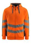 50138-932-1418 Sudadera con capucha con cremallera - naranja de alta vis./antracita oscuro