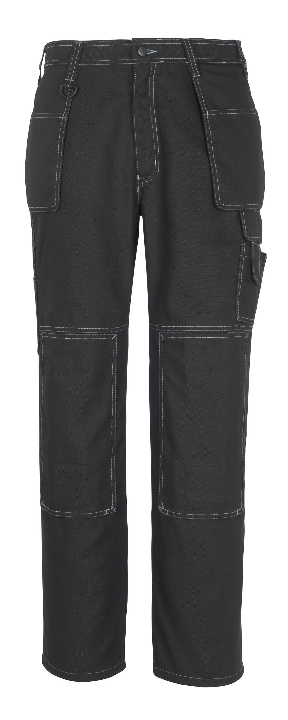 50194-884-09 Pantalones con bolsillos para rodilleras y bolsillos tipo funda - negro