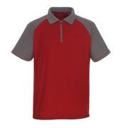 50302-260-02888 Polo con bolsillo en el pecho - rojo/antracita