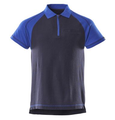 50302-260-111 Polo con bolsillo en el pecho - azul marino/azul real