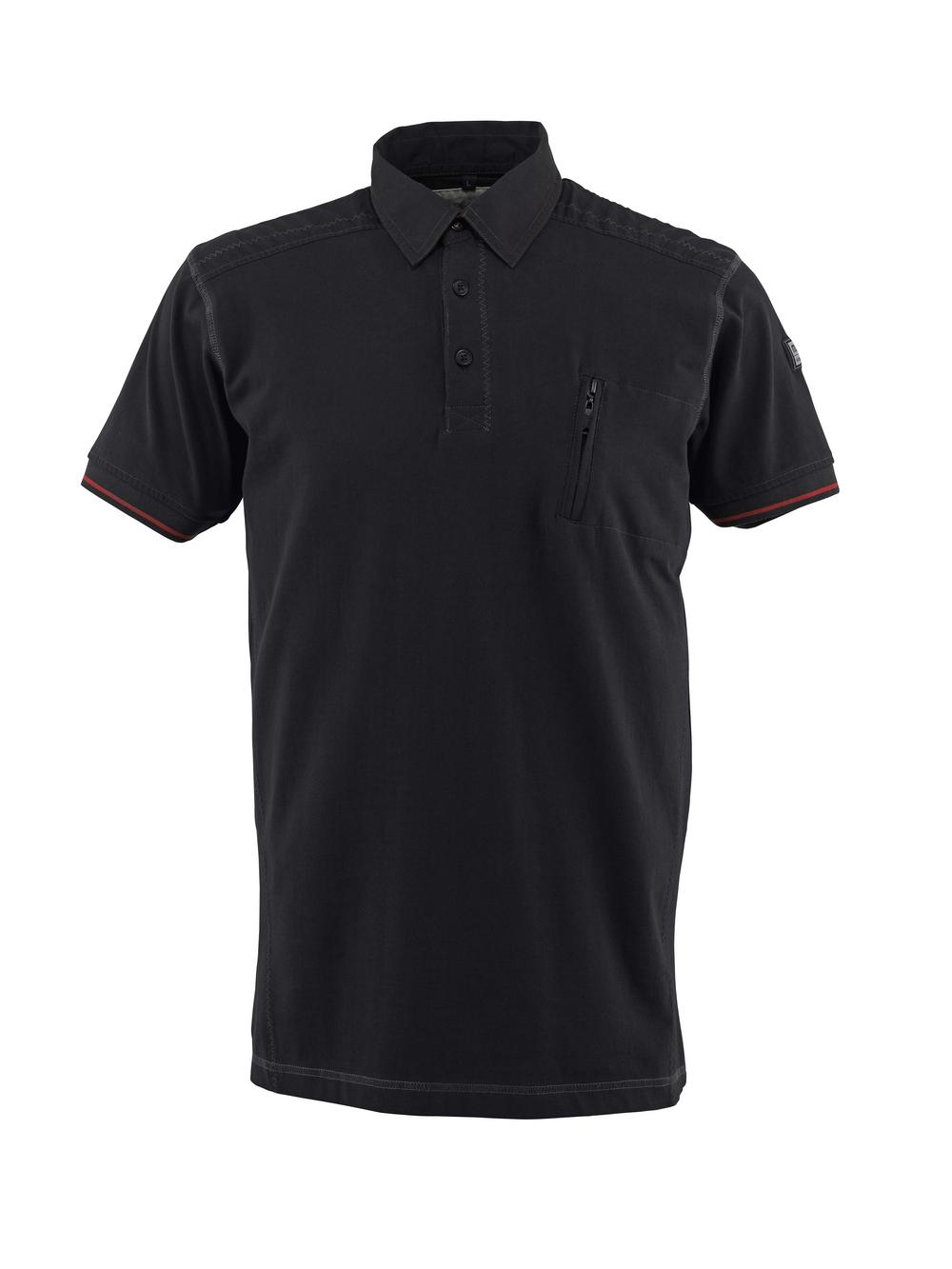 50351-833-09 Polo con bolsillo en el pecho - negro