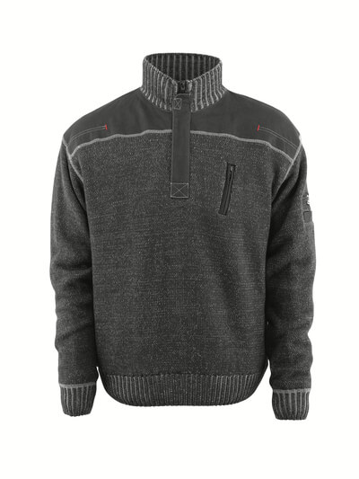 50354-835-09 Jersey de punto con media cremallera - negro