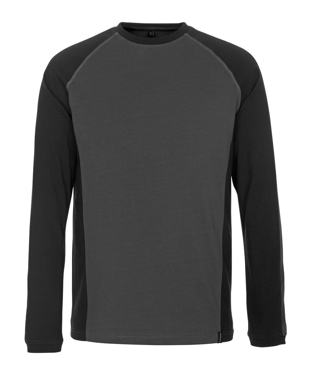 50504-250-1809 Camiseta, manga larga - antracita oscuro/negro