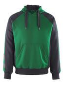 50508-811-0309 Sudadera con capucha - verde/negro