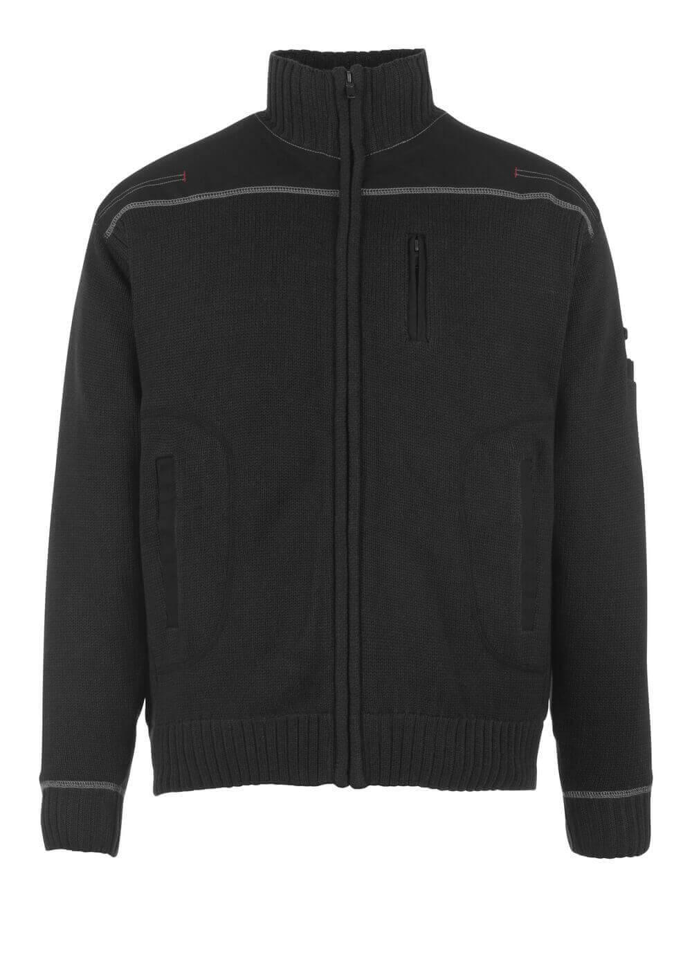 50530-835-09 Jersey de punto con cremallera - negro