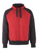 50566-963-0209 Sudadera con capucha con cremallera - rojo/negro