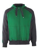 50566-963-0309 Sudadera con capucha con cremallera - verde/negro