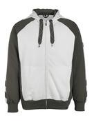 50566-963-0618 Sudadera con capucha con cremallera - blanco/antracita oscuro