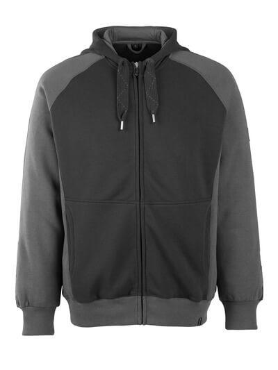 50566-963-0918 Sudadera con capucha con cremallera - negro/antracita oscuro