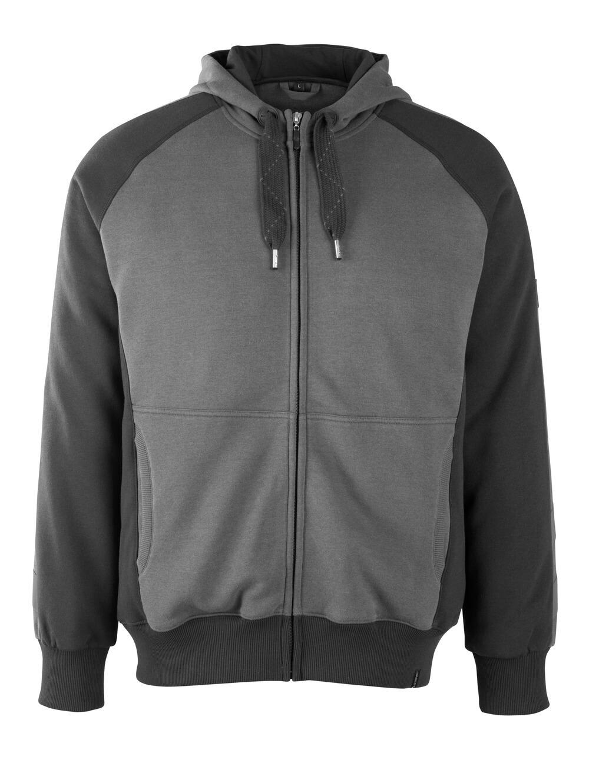 50566-963-1809 Sudadera con capucha con cremallera - antracita oscuro/negro