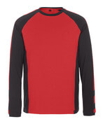 50568-959-0209 Camiseta, manga larga - rojo/negro