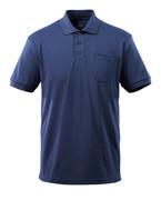 51586-968-01 Polo con bolsillo en el pecho - azul marino