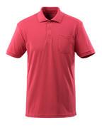 51586-968-96 Polo con bolsillo en el pecho - rojo frambuesa