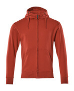 51590-970-02 Sudadera con capucha con cremallera - rojo