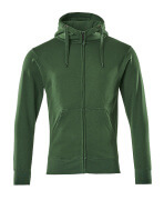 51590-970-03 Sudadera con capucha con cremallera - verde