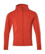 51590-970-202 Sudadera con capucha con cremallera - rojo tráfico