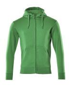 51590-970-333 Sudadera con capucha con cremallera - verde hierba