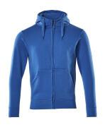 51590-970-91 Sudadera con capucha con cremallera - azul celeste