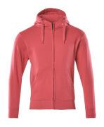 51590-970-96 Sudadera con capucha con cremallera - rojo frambuesa