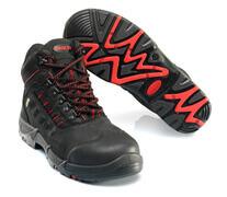 F0025-901-0902 Botas de seguridad - negro/rojo