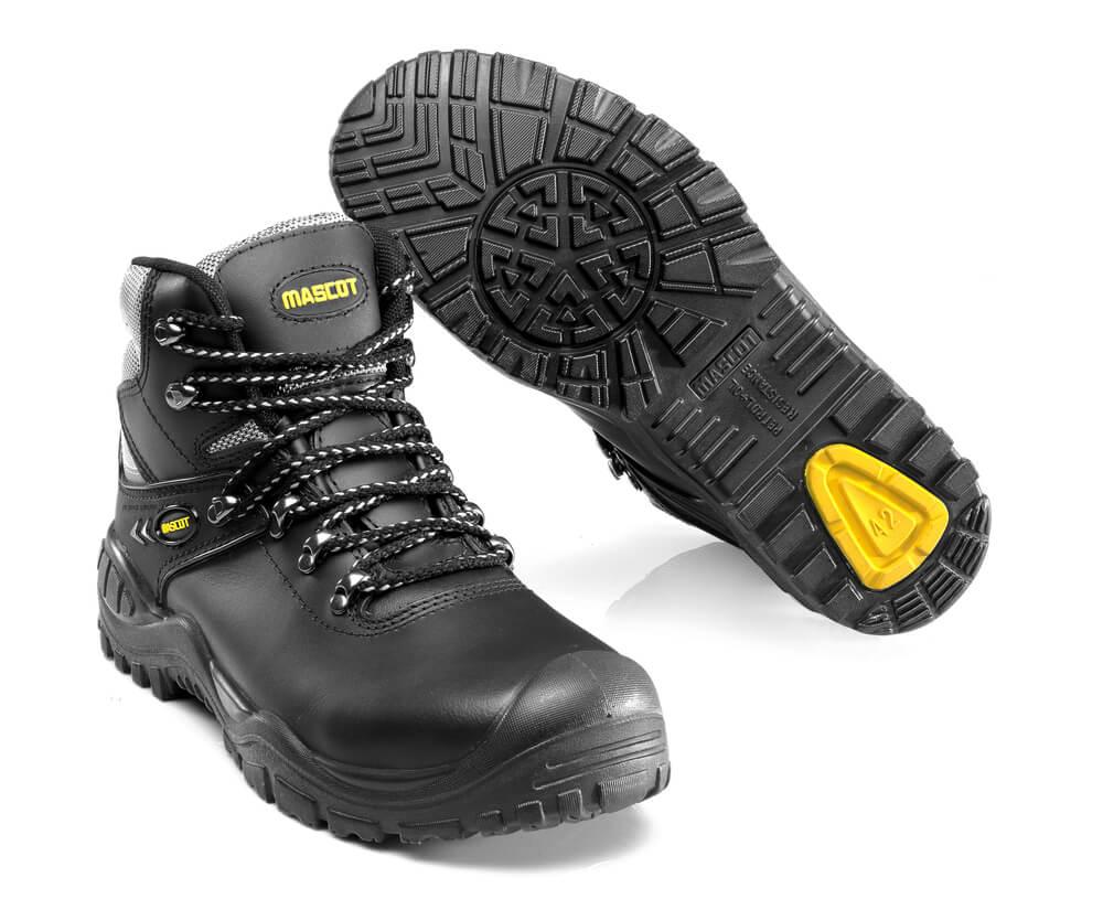 F0074-902-0907 Botas de seguridad - negro/amarillo