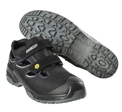 F0100-910-09880 Sandalias de seguridad - negro/plata