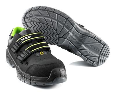 F0107-937-09 Sandalias de seguridad - negro