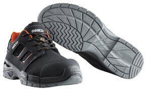F0115-937-09140 Zapatos de seguridad - negro/naranja oscuro