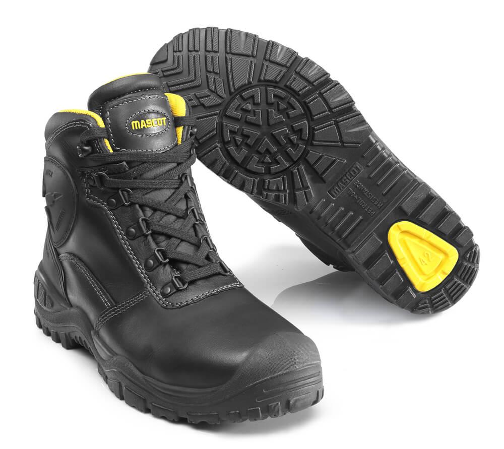 F0165-902-0907 Botas de seguridad - negro/amarillo